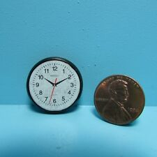 Dollhouse Miniature Modern Wall Clock in Black T8454