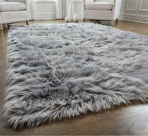 GORILLA GRIP Original Premium Faux Fur Area Rug, 4x6, Softest, Luxurious Shag Ca