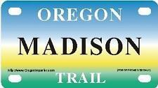MADISON Oregon Trail - Mini License Plate - Name Tag - Bicycle Plate!