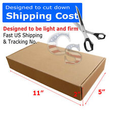 100 11x5x2 Cardboard Packing Mailing Moving Shipping Boxes Corrugated Cartons