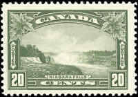 Mint H Canada 20c F+ 1935 Scott #225  King George V Pictorial Stamp