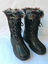 """NEW Womens Winter Boots 10"""" Fur Lined Insulated Waterproof Side Zipper Snow"""