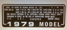 HONDA CBX 1000 CBX1000Z USA HEADSTOCK FRAME RESTORATION DECAL
