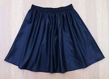"ATMOSPHERE Black Faux Leather Skater Skirt Size 10 Length 26"" WORN ONCE"