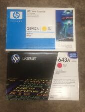 GENUINE HP 643A Q5952A Q5953A Magenta Yellow TONER New Sealed HP Laserjet 4700