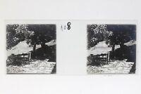 Suisse Paesaggio Campagna Foto Stereo T2L9n57 Placca Da Lente Vintage