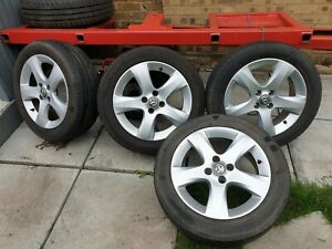 """Vauxhall Corsa D 16"""" 4 Stud SXI  Alloy Wheels & Tyres in Silver."""