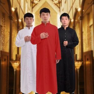 Roman Clergy Cassock Robe Vestments Liturgical Single Breasted Cassock