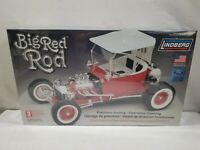 New Lindberg 1/8 Scale Big Red Rod Ford T Bucket Model Kit #73044  FREE USA SHIP