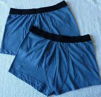 Lot de 2 boxers homme sous vêtement caleçons bleu taille S-M (Fr 38) neuf
