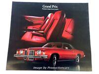 1973 Pontiac Grand Prix Original Car Sales Brochure Folder