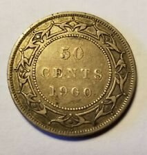 1900 Newfoundland Canada 50 Silver Cents Priced Right Shipped FREE B25