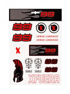 Jorge Lorenzo Official Large Sticker Set - 19 51206