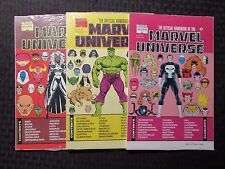 1990s Official Handbook of The MARVEL UNIVERSE #5 8 11 Lot of 3 SEALED