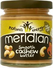 Meridian Foods Natural Smooth Cashew Butter (4x170g)