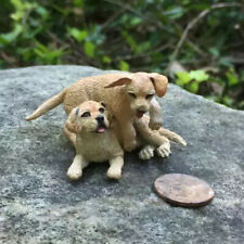 Miniature Dollhouse Playful Puppies By Leslie Frick 1:12 Scale