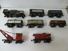 "Vintage Marx 6"" 8 Wheel Pre-War Auto Coupler 391 Engine Toy Train Set"