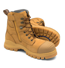 NEW BLUNDSTONE 992 Wheat Side Zip Lace Up Safety Steel Toe Work Boot