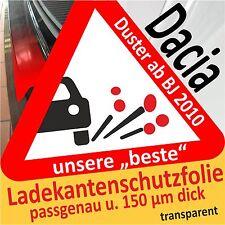 für Dacia Duster Ladekantenschutz Folie Lackschutzfolie Schutzfolie 150µm