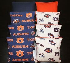 All Weather Cornhole Bean Bags w Auburn Tigers Au Fabric PlasticResin Waterproof