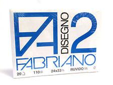 FABRIANO - DISEGNO 2 - F2 - 110 g/mq RUVIDO - 24x33cm - BLOCCO 12FG 4 ANGOLI
