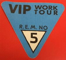 Vintage Genuine OTTO R.E.M. REM Work Tour Satin Cloth Backstage Pass TRIANGLE 5