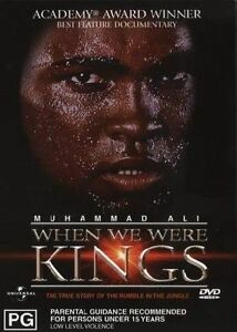 Muhammad Ali DVD When We Were Kings Documentary Boxing RARE Movie OOP