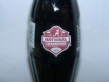 2011 Alabama National Champions Football Coca-Cola Coke Bottle