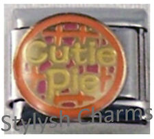 CUTIE PIE PIZZA PIE Enamel Italian Charm 9mm - 1 x LV060 Single Bracelet Link