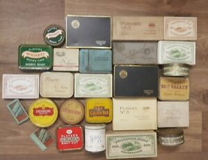 Tobacco, cigarette collectors Tins & boxes players, wills and much more.