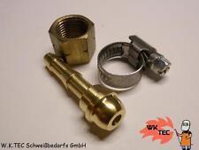 Propan Acetylen Überwurfmutter R3/8 L + Tülle 9,0mm + Schlauchschelle 10-16mm