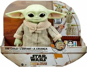 Star Wars The Child Baby Yoda Toy Mandalorian Feature Plush Moves + Sounds