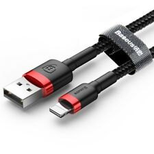 For iPhone 6 7 X XS XR — Baseus Braided Lightning USB Fast Charging Data Cable