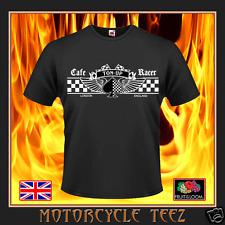 Retro 'TON-UP' CAFE RACER ACE- MOTORCYCLE - HIGH QUALITY BIKER / ROCKER T-SHIRT