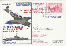 (05373) CLEARANCE France Cover Raid Dieppe PAQUEBOT Posted Sea SS Falaise 1972