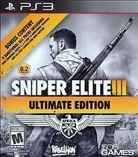 SNIPER ELITE III ULTIMATE EDITION PS3 ACT NEW VIDEO GAME