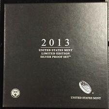 2013 United States Mint Limited Edition Silver Proof Set BEAUTIFUL