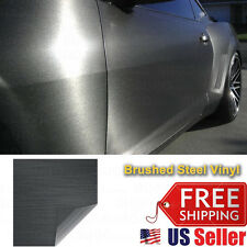 "120""x60"" Premium Gray Brushed Aluminum Metal Steel Vinyl Wrap Sticker Decal Film"