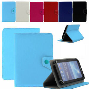 """Universal Leather Case Tablet Protective Cover Stand For 10"""" Galaxy iPad Lenovo"""