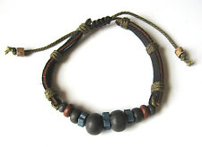 ZYAH Surf Jewelry Multi Hemp+Clay Beads Bracelet/Anklet