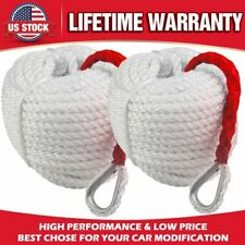 2PCS Twisted Three Strand Anchor Rope 150 Feet by 3-4 Inch Double Nylon Braided