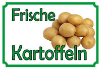 Frische Kartoffeln Blechschild Schild gewölbt Metal Tin Sign 20 x 30 cm
