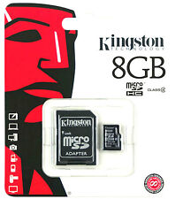 KINGSTON 8GB MICRO SD SDHC CLASS4 FLASH MEMORY CARD   ADAPTER 8 GB NEW