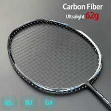 Ultra Light 62g Carbon Fiber Badminton Rackets Type With Strings G4 Padel Sports