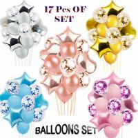 17pcs/set Wedding Birthday Balloons ARCH Latex Foil Ballons Kids Boy Girl Baby