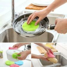 Silicone Multi Function Dish Washing Brush Sponge Scrubber Kitchen Cleaning Tool