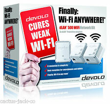 Devolo 9092 Powerline dlan 500 Red Wifi Kit Con 3 adapters/plugs