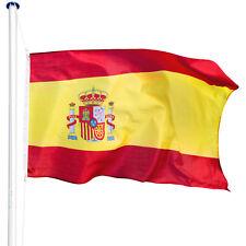 Mât de drapeau aluminium 625 cm drapeau Espagne avec kit jardin drapeaux blason