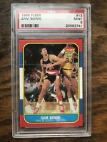 1986-87 Sam Bowie PSA 9 Fleer Premier Basketball Rookie Rc #13 * Well Centered