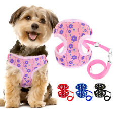Pet Cat Dog Walking Harness with Leash set for Puppy Kitten Collar Vest S L